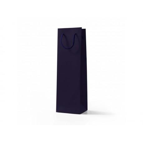 Papírová taška VÍNO fialová lamino mat