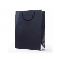 Papírová taška ALFA modrá lamino lesk