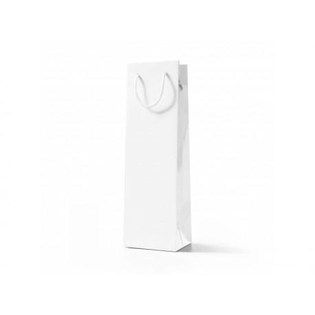 Papírová taška VÍNO bílá lamino lesk