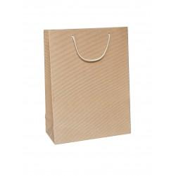 Papírová taška ALFA přírodní otevřená vlnitá lepenka