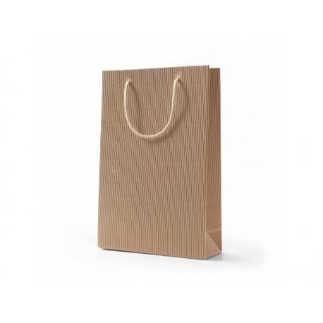 Papírová taška RAF přírodní otevřená vlnitá lepenka