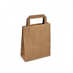 Strojní bílá papírová taška Topcraft 18x8x22 s plochým uchem