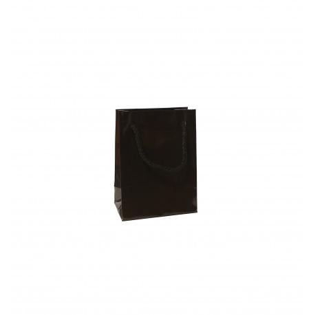 Papírová taška MZ černá lamino lesk