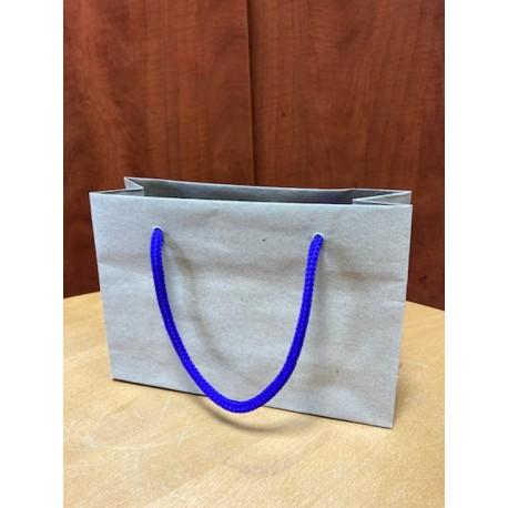Papírová taška malá recykl s barevnou šňůrkou