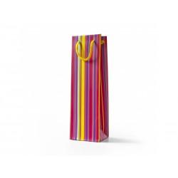 Papírová taška VÍNO barevné lamino mat